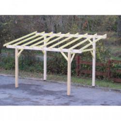 Carport monopente avec préparation pour couverture légère de marque HABRITA, référence: J4219600