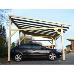 Carport double monopente avec préparation pour couverture légère de marque HABRITA, référence: J4220300