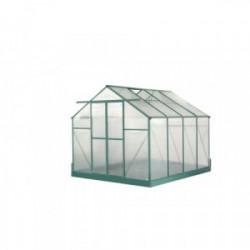 Serre jardin aluminium - avec base et 2 fenêtres / 7,44 m2 de marque HABRITA, référence: J4222100