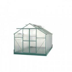 Serre jardin aluminium - avec base et 4 fenêtres / 10,37 m2 de marque HABRITA, référence: J4222200
