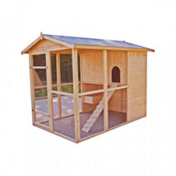 Poulailler XXL - 4,69 m² de marque HABRITA, référence: J4224200