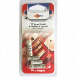 Assortiment 4 fusibles à voyant de marque PROFILE, référence: B4297400