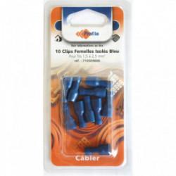10 cosses clips isolées femelles bleues de marque PROFILE, référence: B4298500