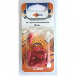 10 cosses clips isolées femelles rouges de marque PROFILE, référence: B4298600