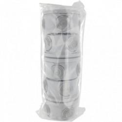 Lot de 5 boîtes de dérivation étanche de diamètre 70mm de marque BLM, référence: B4307100