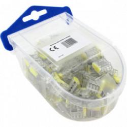 Boîte de 100 bornes transparentes avec 4 entrées de marque BLM, référence: B4308000