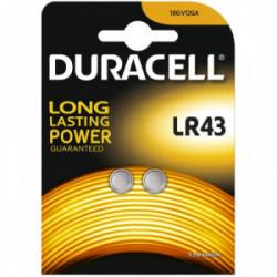 Blister 2 piles Electronics LR43 de marque DURACELL, référence: B4311900