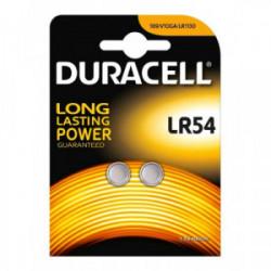 Blister 2 piles Electronics LR54 de marque DURACELL, référence: B4312000