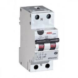 Disjoncteur différentiel phase + neutre 10A-30mA de marque AEG, référence: B4313000