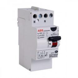 Interrupteur différentiel 30mA 25A type AC de marque AEG, référence: B4313200