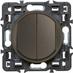 Celiane double interrupteur 10A graphite de marque LEGRAND, référence: B4332200