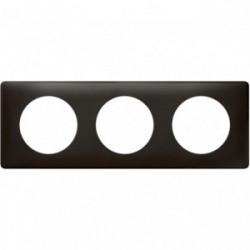Celiane plaque 3 postes carbone new de marque LEGRAND, référence: B4334000