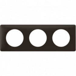 Celiane plaque 3 postes basalte de marque LEGRAND, référence: B4334700
