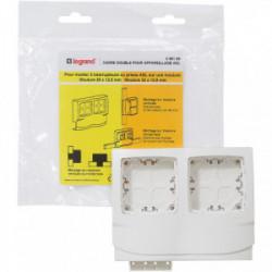 DLP cadre 2 postes appareillage épaisseur 12.5 de marque LEGRAND, référence: B4338000