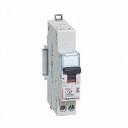 Disjoncteur phase + neutre 32A automatique de marque LEGRAND, référence: B4340000