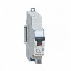 Disjoncteur phase + n 10A auto de marque LEGRAND, référence: B4340300