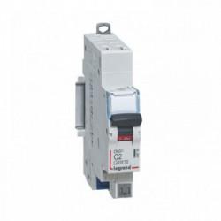Disjoncteur phase + n 2 A automatique de marque LEGRAND, référence: B4340400