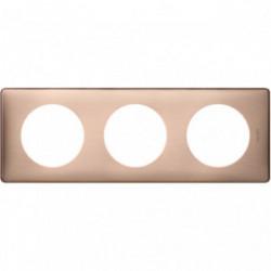 Celiane plaque 3 postes copper cuivre de marque LEGRAND, référence: B4349000