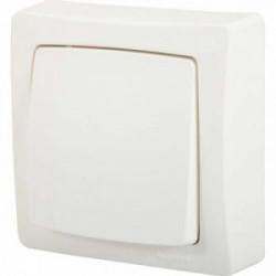 ASL Interrupteur va et vient + prise 2 pôles + terre F / boîtier vertical blanc de marque LEGRAND, référence: B4353400