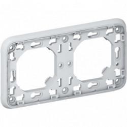 Plexo support 2 postes horizontal composable gris de marque LEGRAND, référence: B4354000