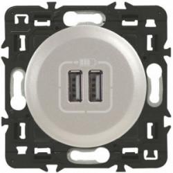 Celiane prise double USB titane de marque LEGRAND, référence: B4354500