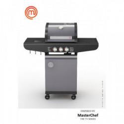 Barbecue à gaz 2 brûleurs de marque MasterChef, référence: J4395000