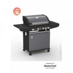Barbecue à gaz 4 brûleurs de marque MasterChef, référence: J4395100