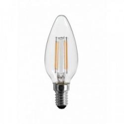 Ampoule LED Filament Flamme E14 4W 360°   3000K  470Lm de marque FOX LIGHT, référence: B4404600