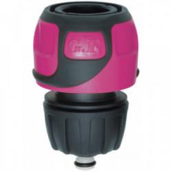 Raccord rapide Soft Touch Aquastop tuyau Ø 16 à 19 mm - Rose de marque GF, référence: J4409400