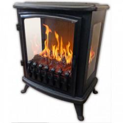 """Cheminée électrique """"Fire Glass"""" - noire de marque CHEMIN'ARTE, référence: B4424000"""