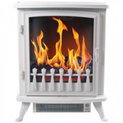 """Cheminée électrique """"Fire Glass"""" - blanche de marque CHEMIN'ARTE, référence: B4424100"""