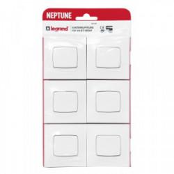 NEPTUNE Lot 6 interrupteurs va et vient borne automatique de marque LEGRAND, référence: B4427600