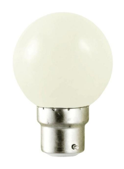 Ampoule LED 1W B22 couleur Blanche