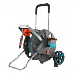 Dévidoir d'arrosage sur roues équipé Aquaroll L Easy de marque GARDENA, référence: J4451200