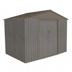 Abri jardin métal -  Aspect BOIS VIEILLI 86 - 4,72 M²- GRIS de marque CHALET & JARDIN, référence: J4453100
