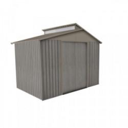 Abri jardin métal - Aspect BOIS VIEILLI 9363 - 5,44 M²- GRIS de marque CHALET & JARDIN, référence: J4453400