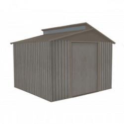 Abri jardin métal - Aspect BOIS VIEILLI 9384 - 7,25 M²- GRIS de marque CHALET & JARDIN, référence: J4453500
