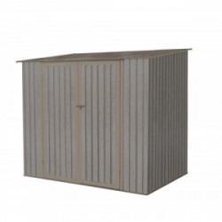Abri jardin métal - Aspect BOIS VIEILLI 75 - 3,17 M²- GRIS de marque CHALET & JARDIN, référence: J4453600