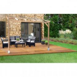 Toit Couv'Terrasse bois 3X3 - SANS TOIT de marque CHALET & JARDIN, référence: J4455200