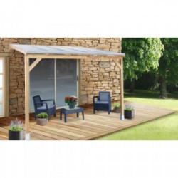 Toit Couv'Terrasse bois 3X3 - AVEC TOIT de marque CHALET & JARDIN, référence: J4455300
