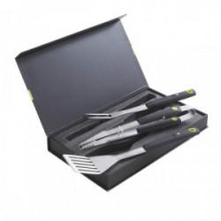Coffret BBQ 3 pièces aimantées : pince, spatule, fourchette de marque COOK'IN GARDEN, référence: J4471200