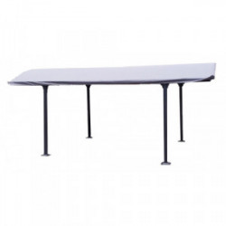 Bâche pour carport Aluminium toit demi-rond de marque HABRITA, référence: J4490400