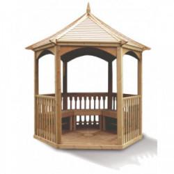 Pavillon hexagonal - Toiture bois - 4,74 m² de marque HABRITA, référence: J4495300