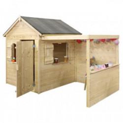 Maisonnette en bois pour enfants enfant ALPAGA de marque Jardipolys, référence: J4514400