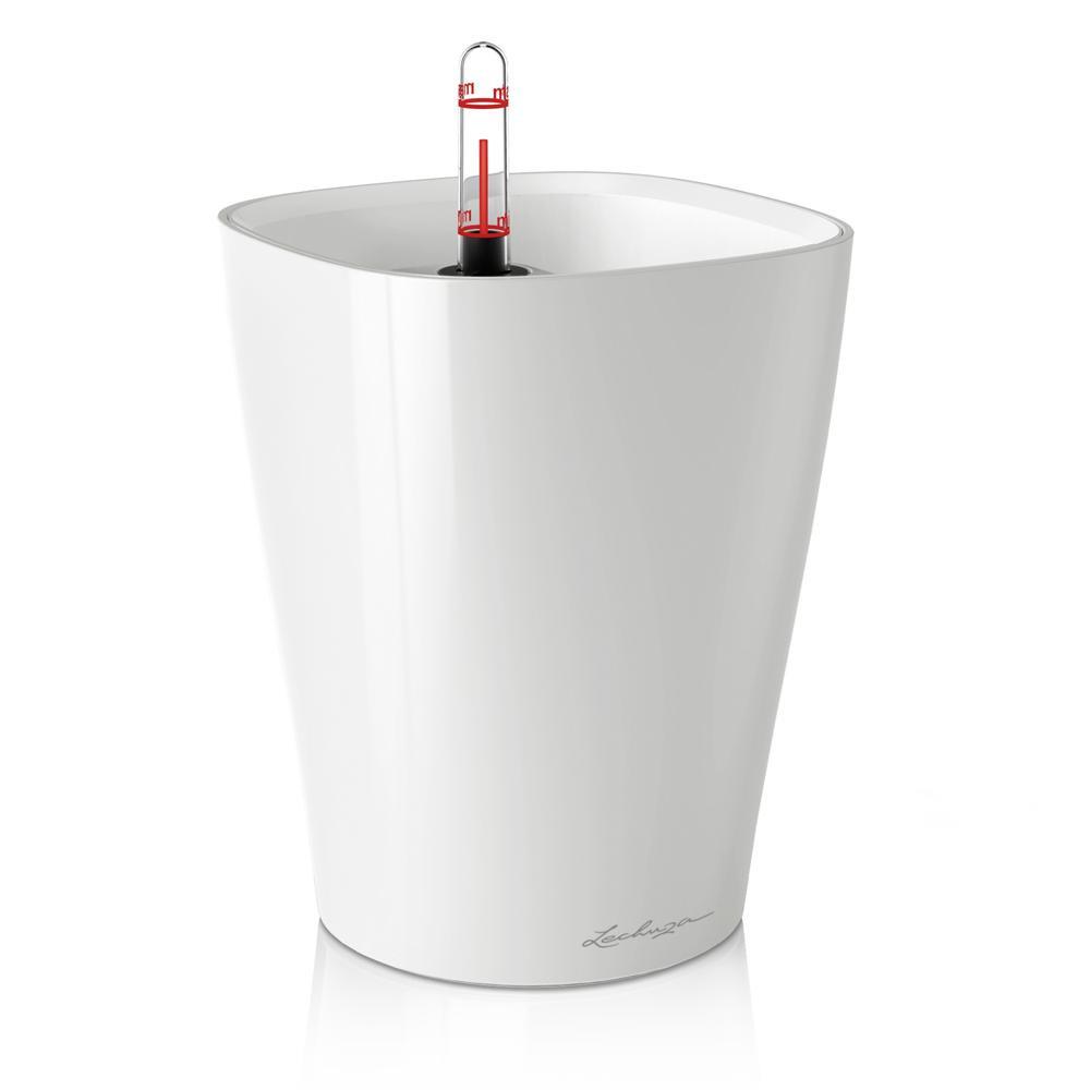 Pot de table Deltini - kit complet, blanc brillant Ø 14 x 18 cm