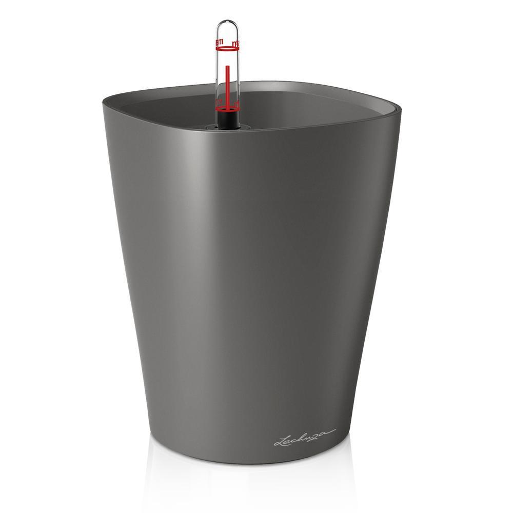 Pot de table Deltini - kit complet, anthracite métallisé Ø 14 x 18 cm