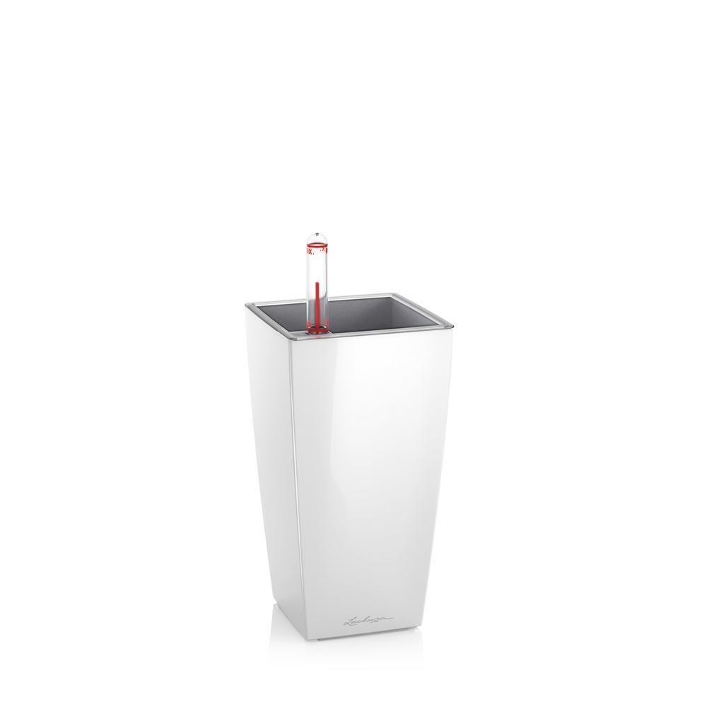 Pot de table Mini-Cubi - kit complet, blanc brillant 18 cm