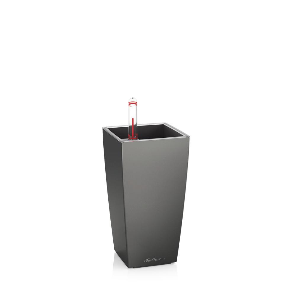 Pot de table Mini-Cubi - kit complet, anthracite métallisé 18 cm