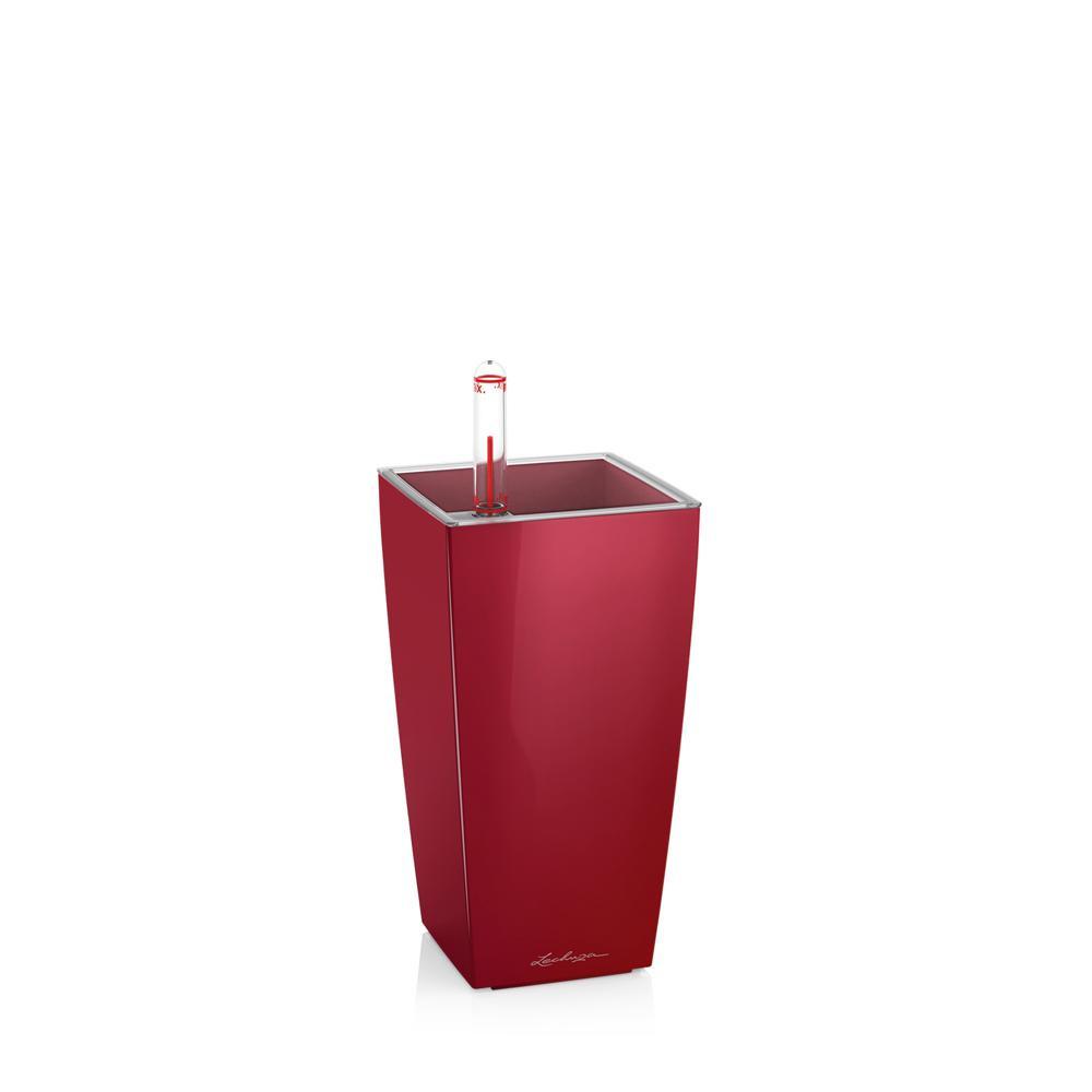Pot de table Mini-Cubi - kit complet, rouge scarlet brillant 18 cm