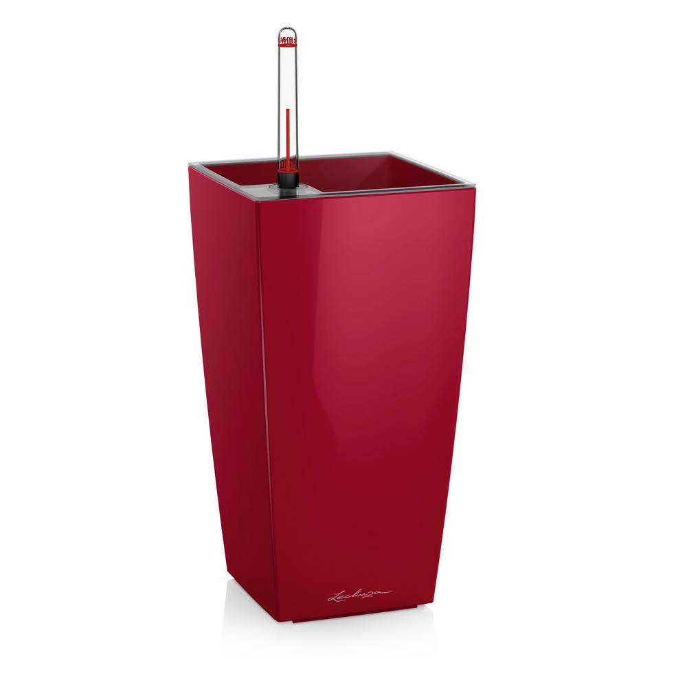 Pot de table Maxi-Cubi - kit complet, rouge scarlet brillant 26 cm